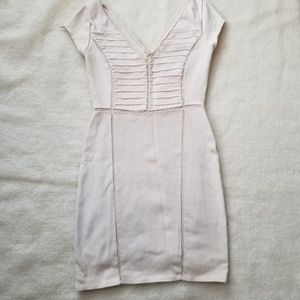 Free People Dresses - Free people nude bodycon mini dress XS